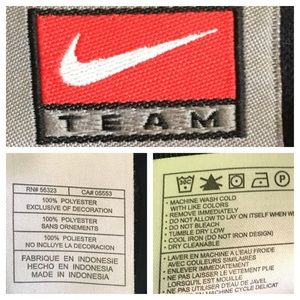 Nike Jackets & Coats - Team Nike Black/White Full Zip Jacket SZ L